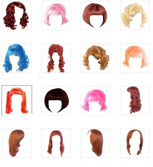 Волосы мультяшные