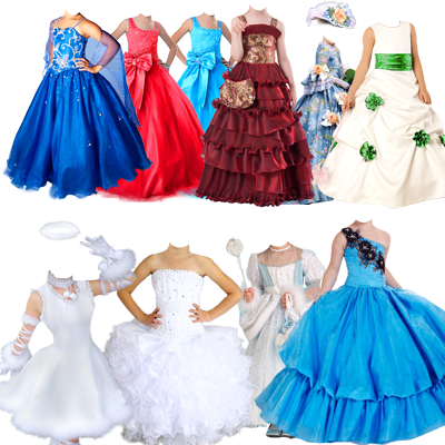 платья костюмы прически для фотошопа