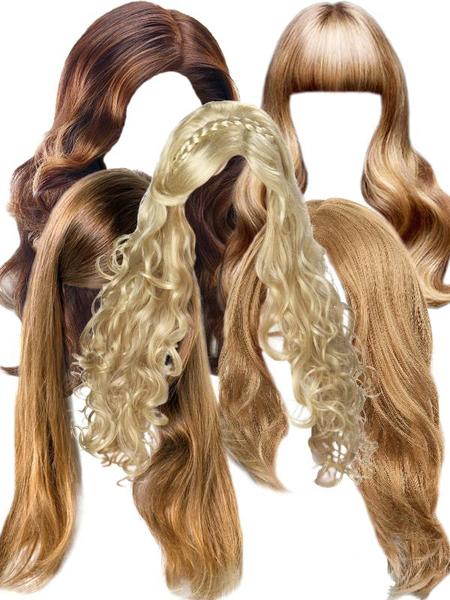 Клипарт прически с длинными волосами
