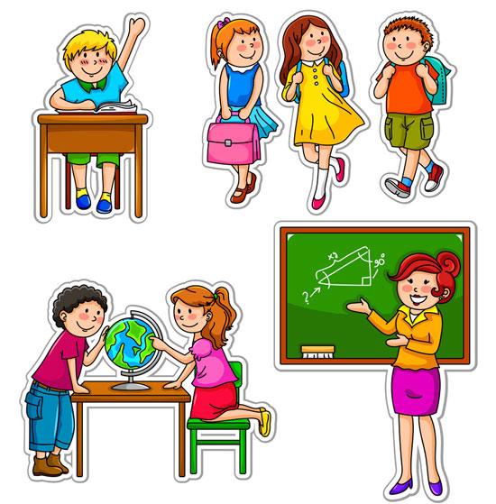 Школьный клипарт учитель и ученики